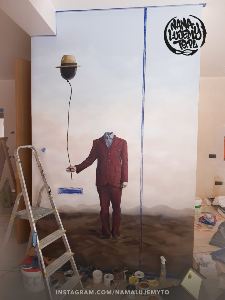 Fotorealistyczny obraz na ścianie w mieszkaniu